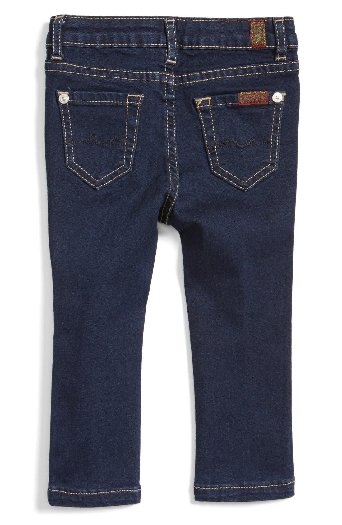 Alternate Image 2  - 7 For All Mankind® Skinny Fit Jeans (Baby Girls)