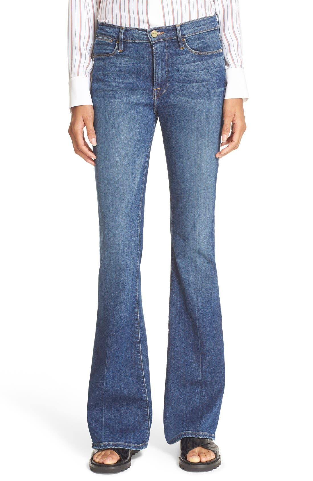 Main Image - FRAME 'Le High Flare' Jeans (Neosho)