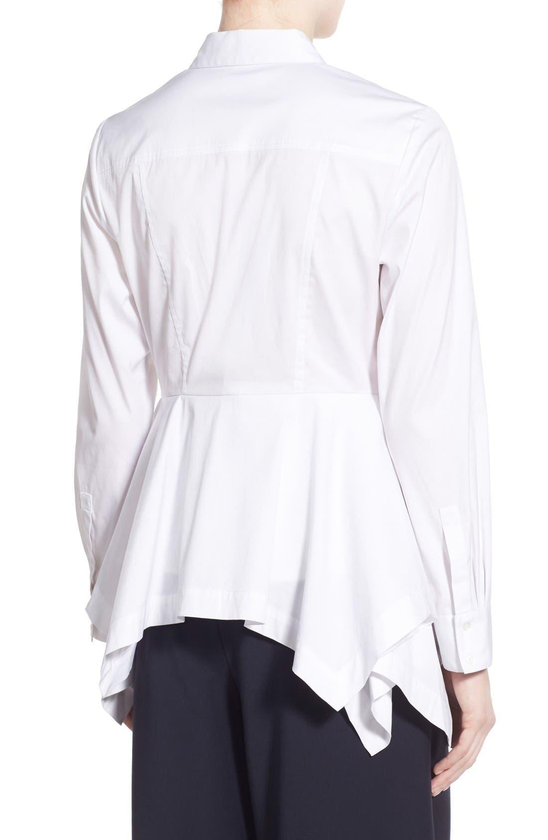 Alternate Image 2  - Olivia Palermo + Chelsea28 Poplin Peplum Shirt