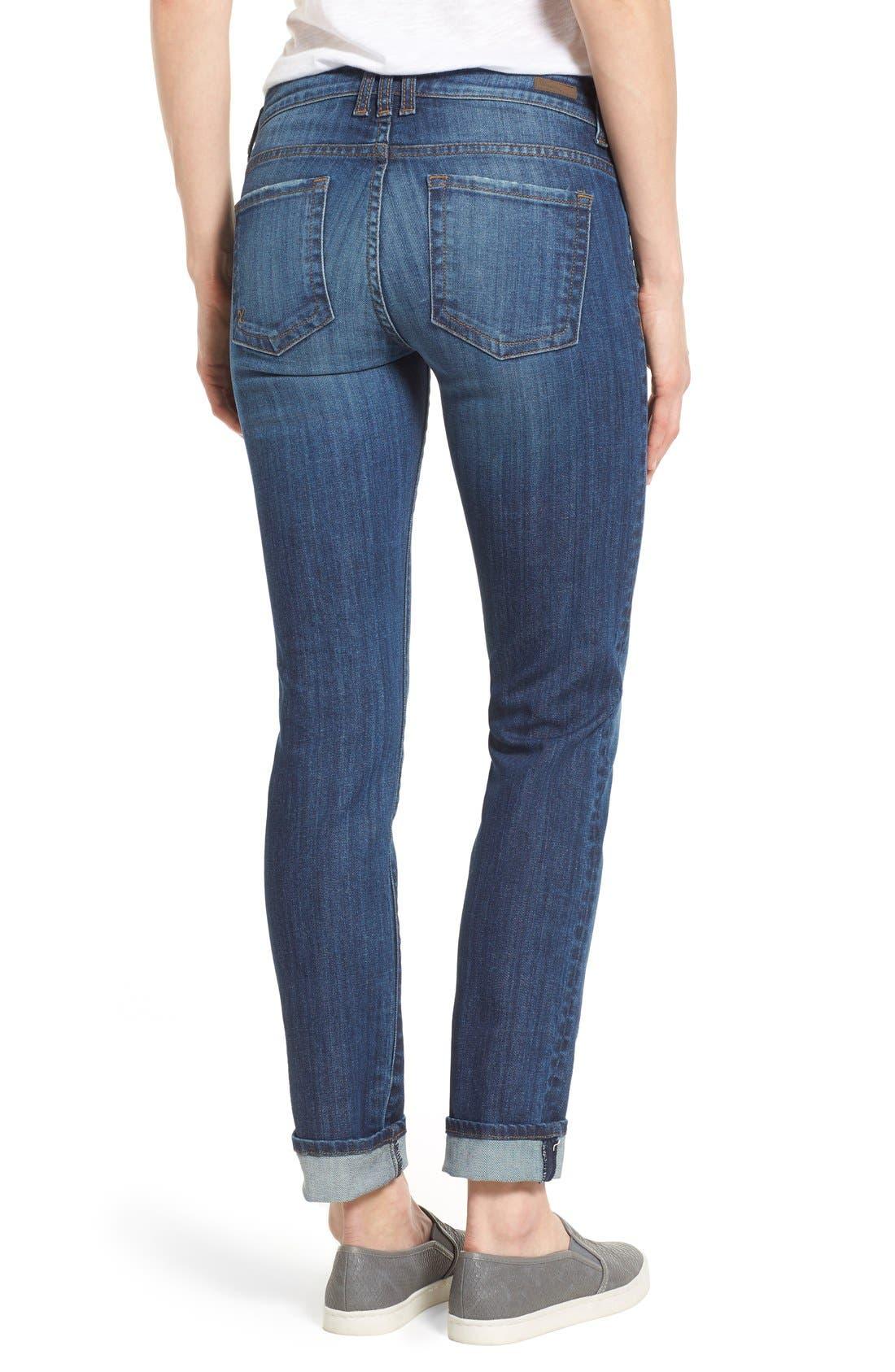 Alternate Image 2  - KUT from the Kloth 'Catherine' Distressed Stretch Boyfriend Jeans (Yearn) (Regular & Petite)