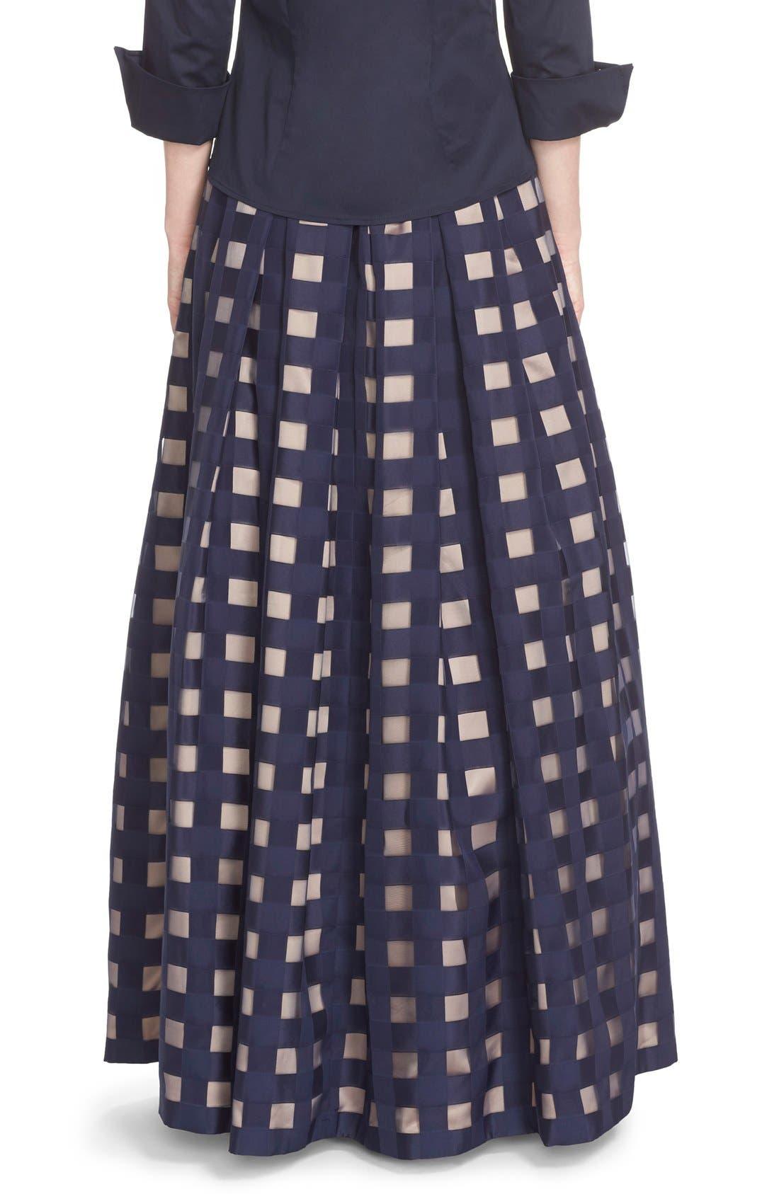 Alternate Image 2  - Eliza J Windowpane Satin Ball Skirt
