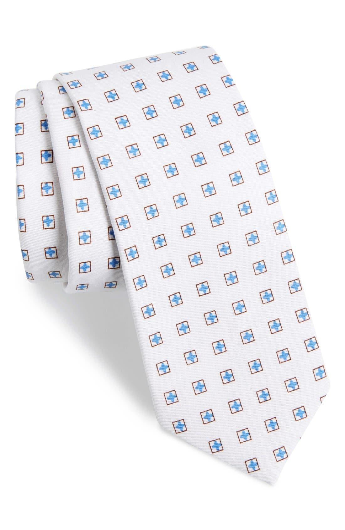 Main Image - 1901 'RJ Neat' Medallion Cotton Tie