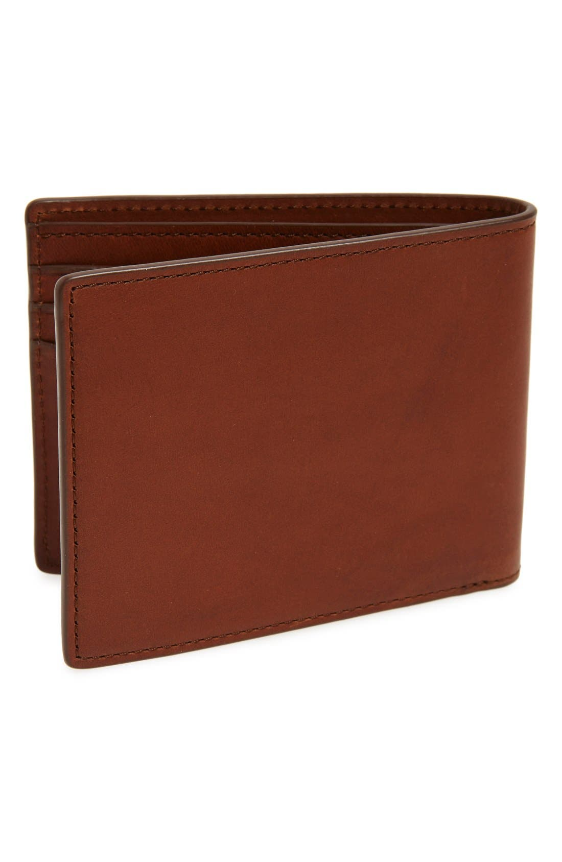 Hampshire Leather Bifold Wallet,                             Alternate thumbnail 3, color,                             Brown