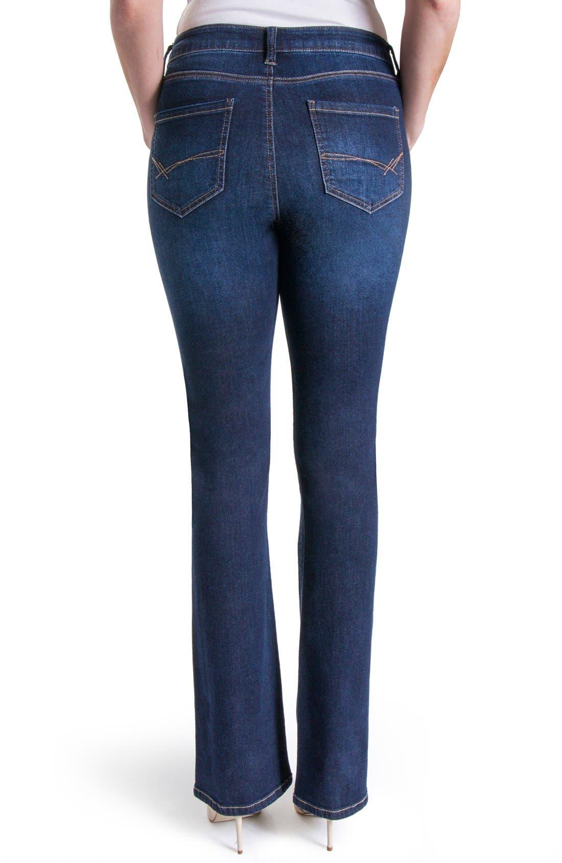 Lucy Stretch Bootcut Jeans,                             Alternate thumbnail 2, color,                             Vintage Super Dark
