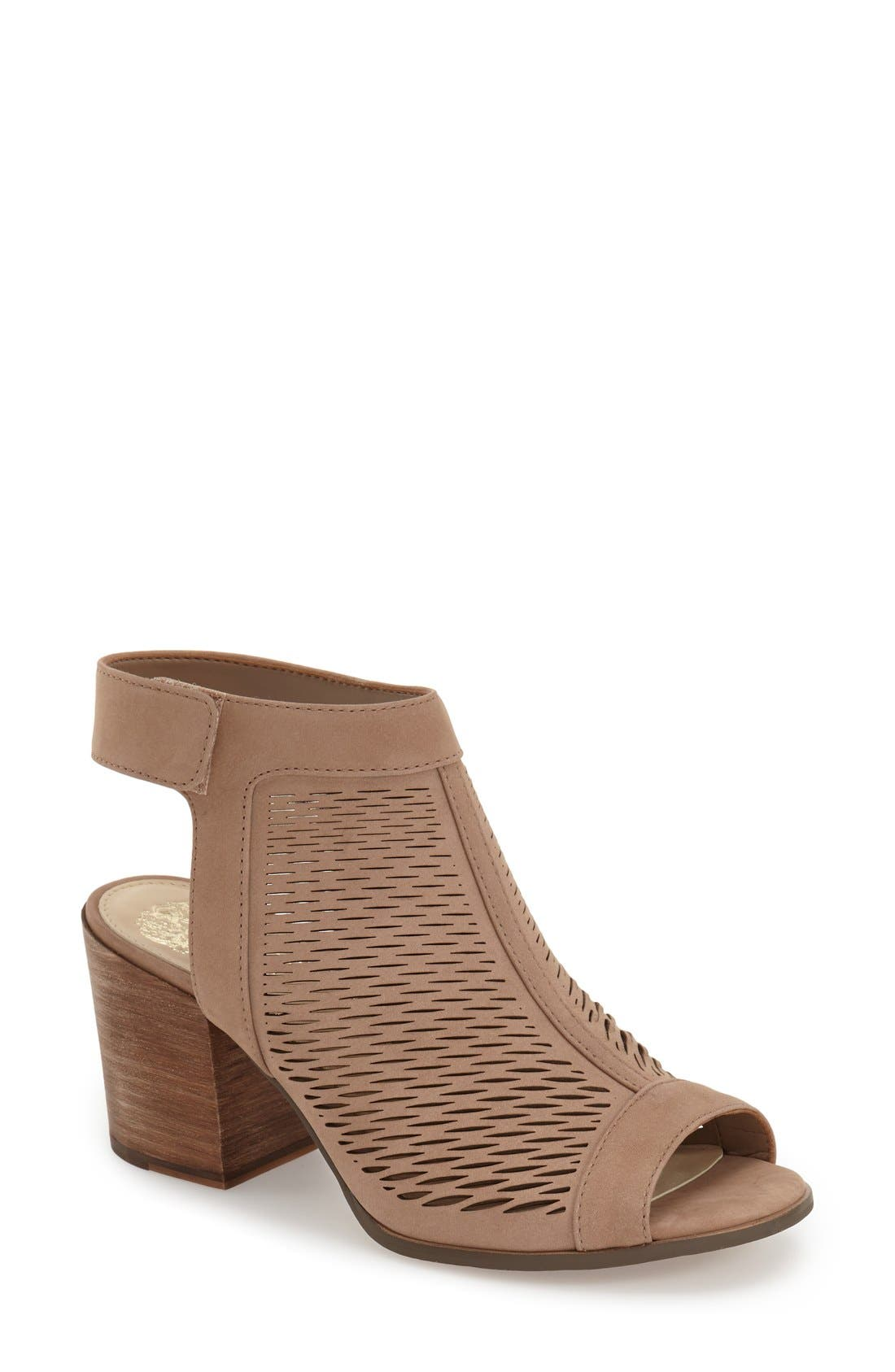 Vince Camuto 'Lavette' Perforated Peep Toe Bootie (Women) (Nordstrom Exclusive)