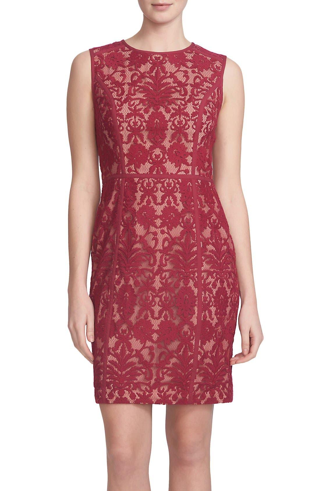 Alternate Image 1 Selected - Cynthia Steffe 'Elenora' Lace Sheath Dress