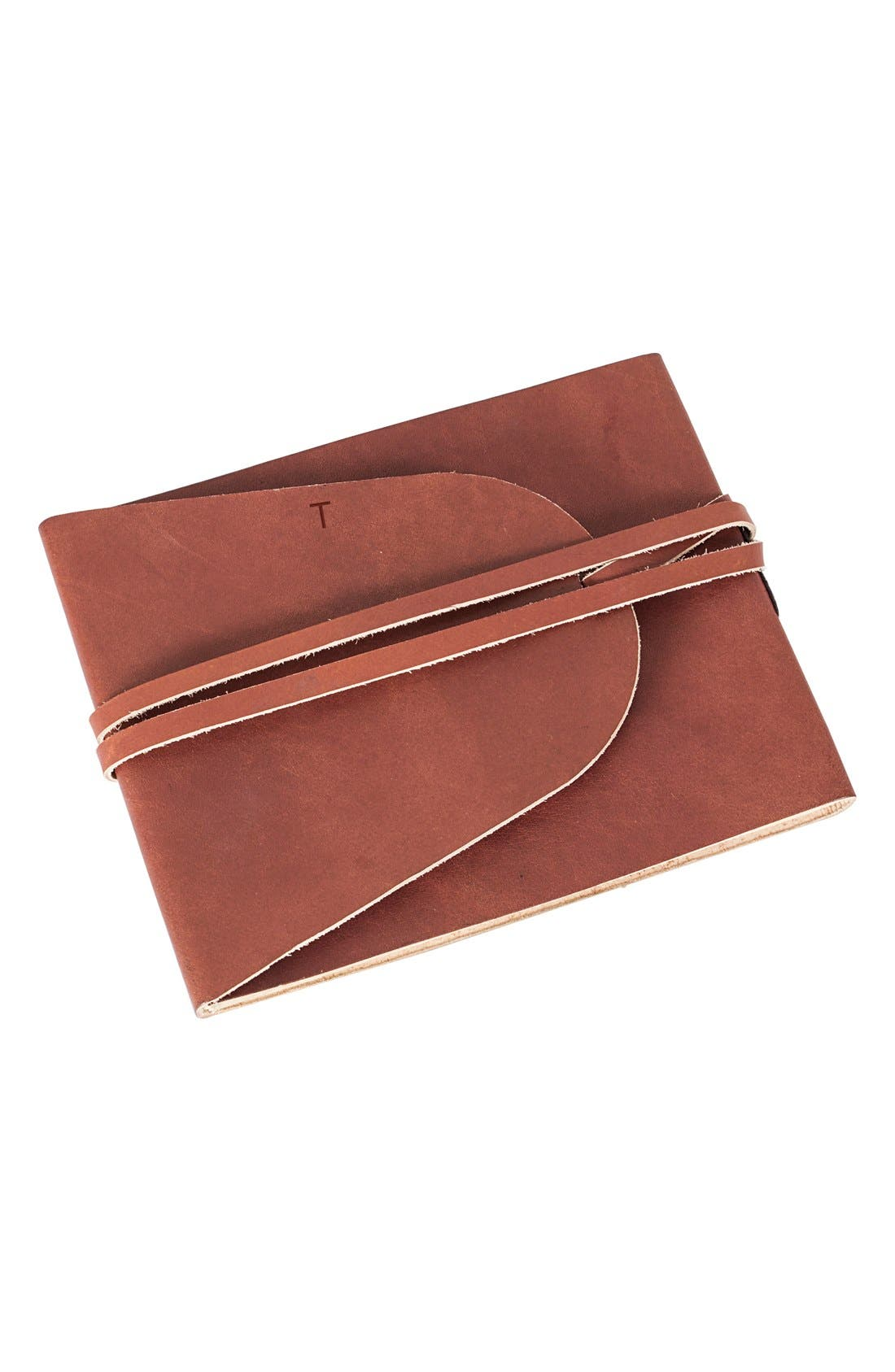 Cathy's Concepts Monogram Leather Guest Book