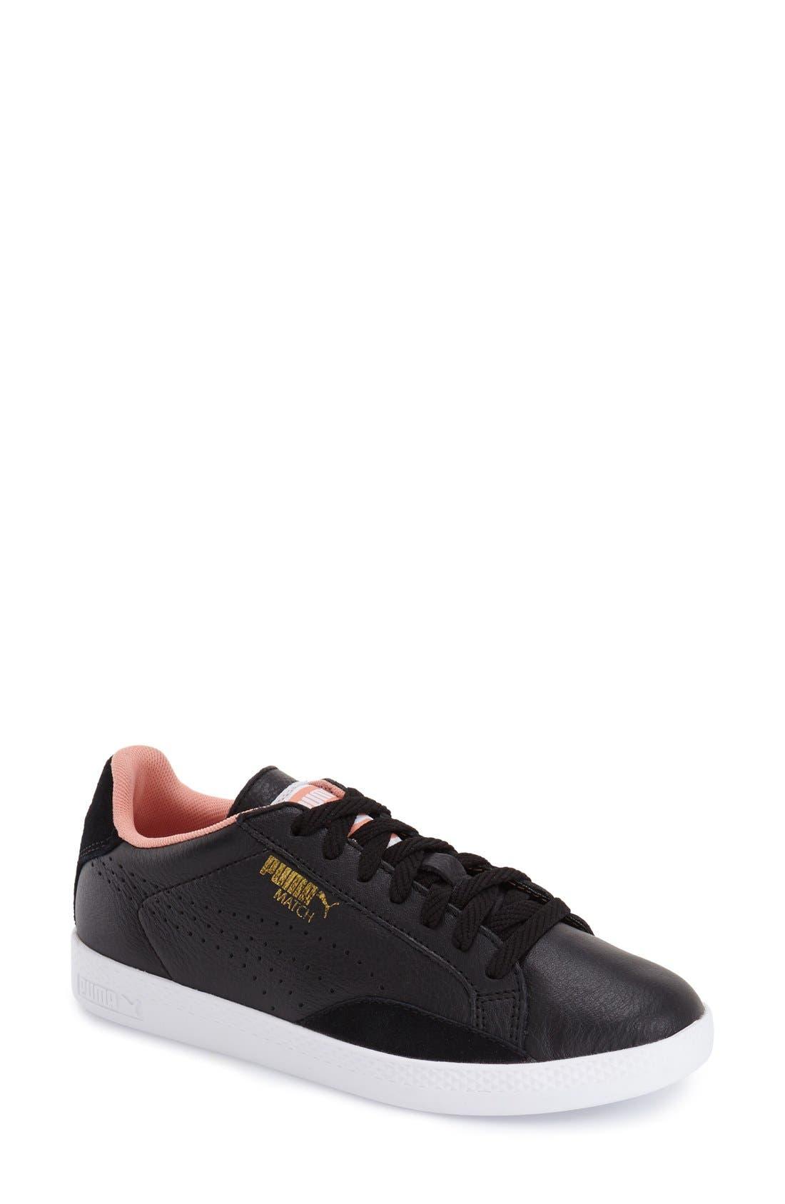 Alternate Image 1 Selected - PUMA 'Match Lo - Basic Sport' Leather Sneaker (Women)