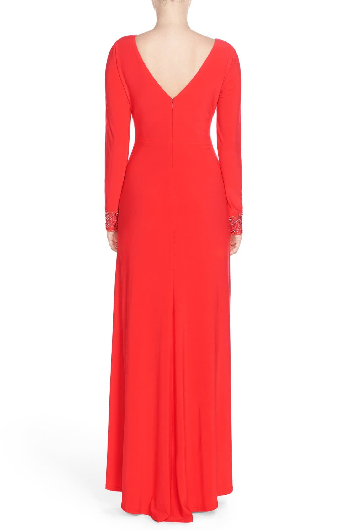 Alternate Image 2  - Vince Camuto Studded Jersey Fit & Flare Gown