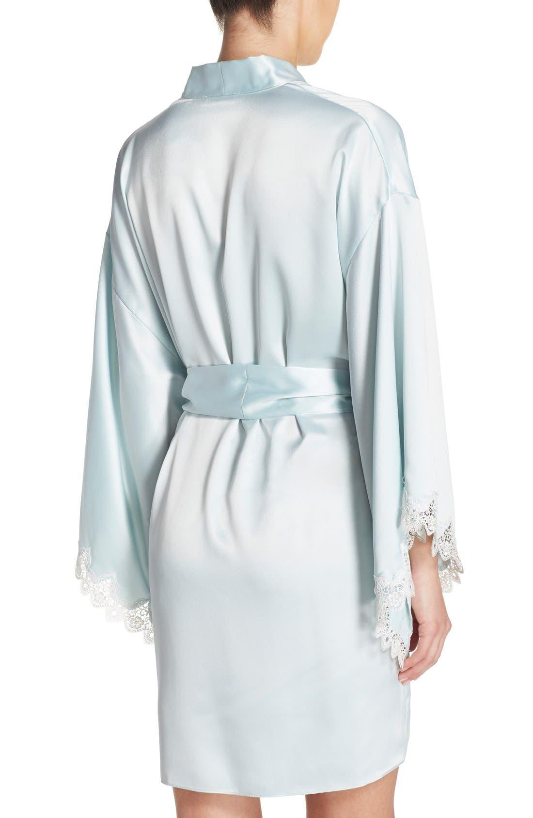 Alternate Image 2  - Flora Nikrooz 'Dahlia' Charmeuse Robe