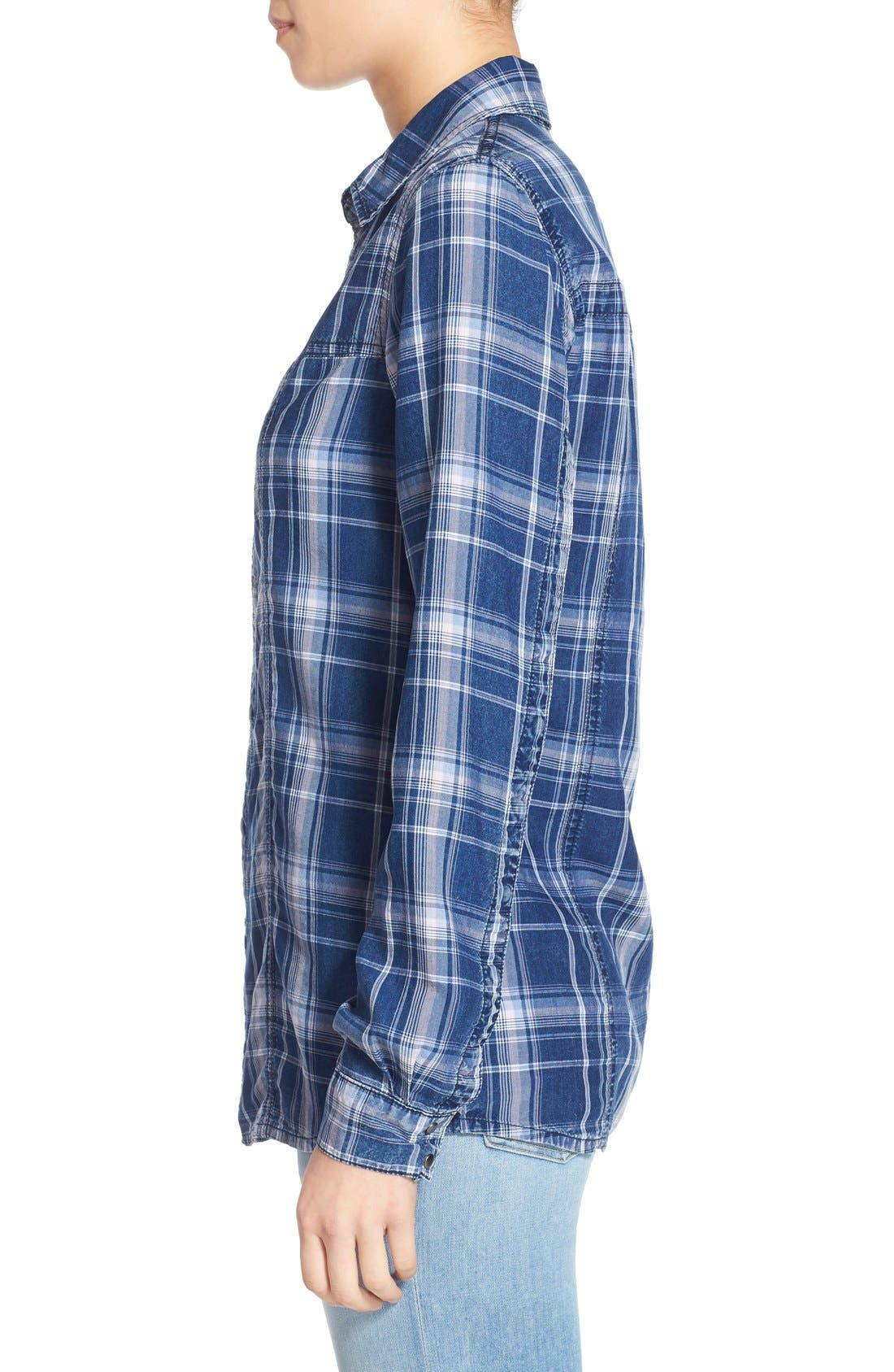 Alternate Image 3  - Hudson Jeans 'Britt' Plaid Shirt