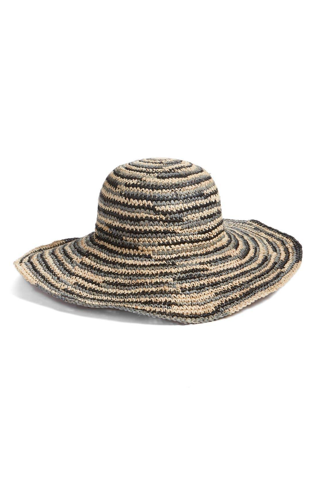 Alternate Image 1 Selected - Caslon® Raffia Floppy Brim Hat