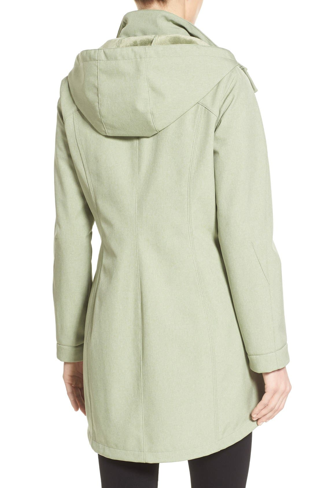 Alternate Image 2  - Kristen Blake Crossdye Hooded Soft Shell Jacket (Regular & Petite)