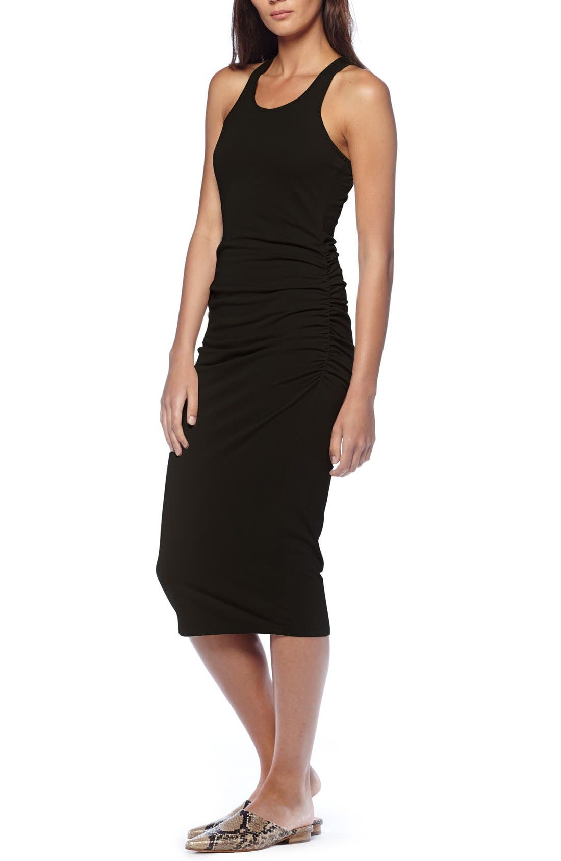 Alternate Image 4  - Michael Stars Racerback Midi Dress (Regular & Petite)
