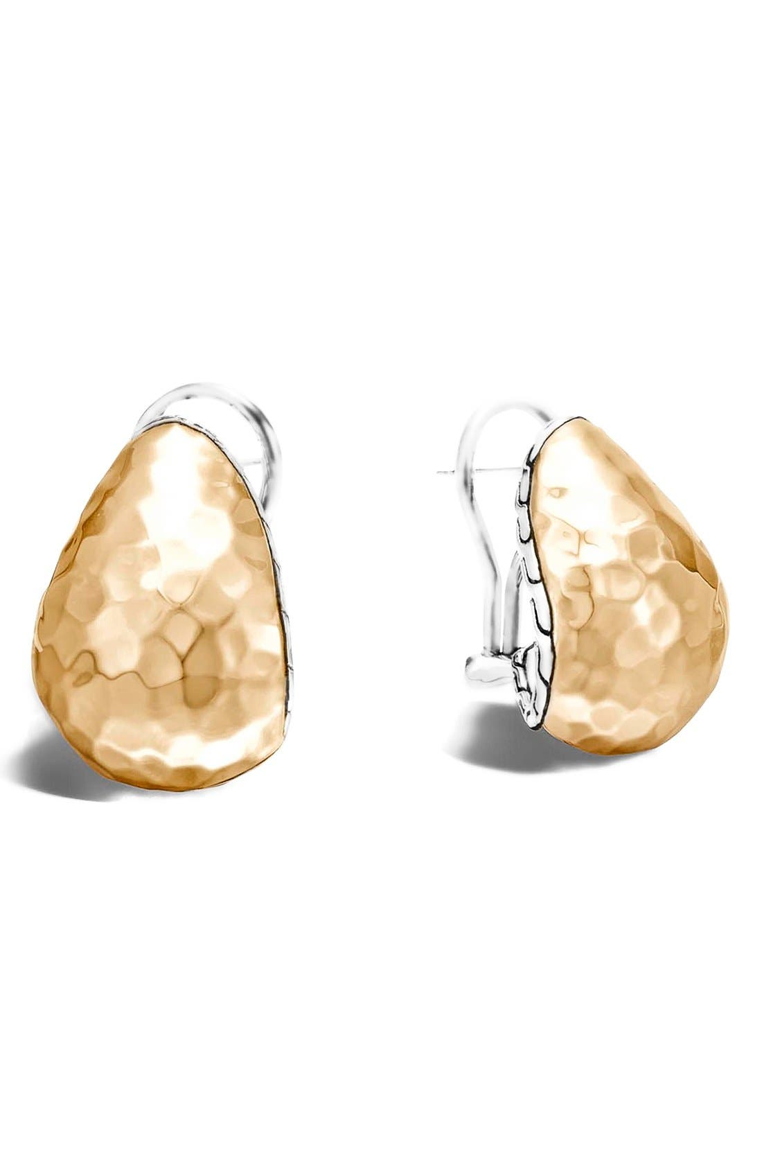 'Classic Chain - Buddha Belly' Stud Earrings,                             Main thumbnail 1, color,                             Silver/ Gold