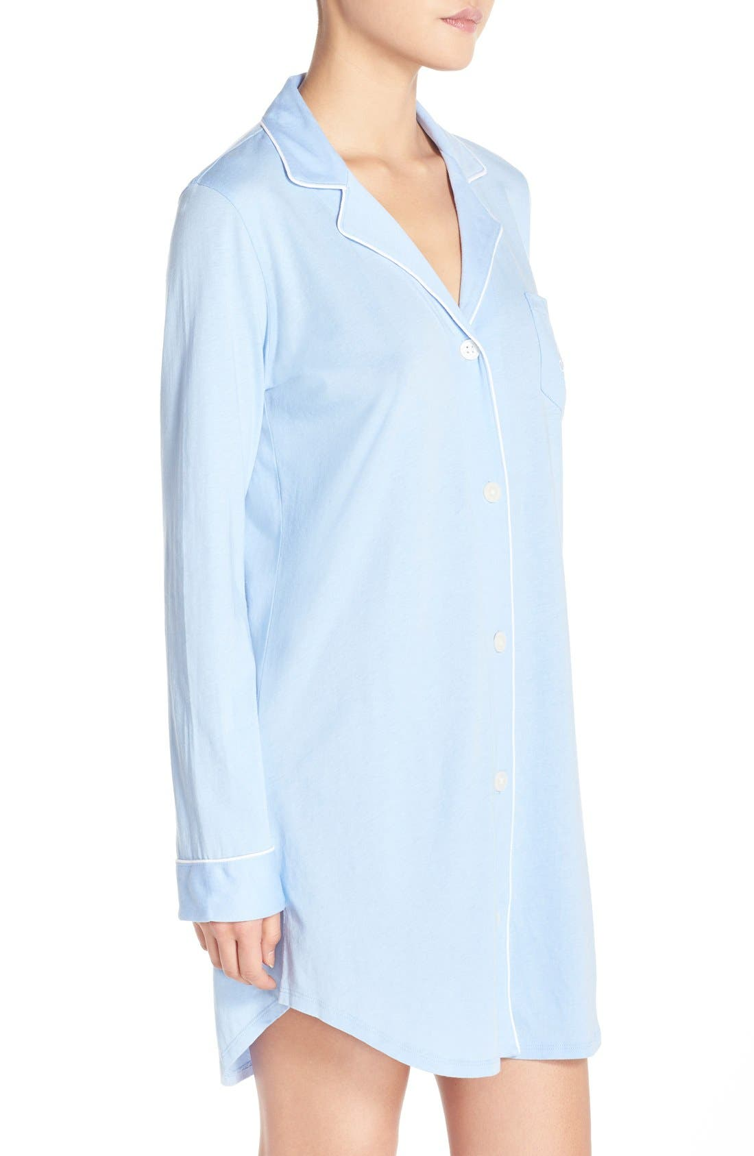 Alternate Image 3  - Lauren Ralph Lauren Knit Nightshirt (Online Only)