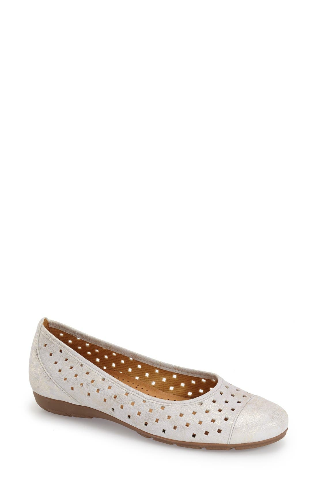Alternate Image 1 Selected - Gabor Perforated Ballet Flat