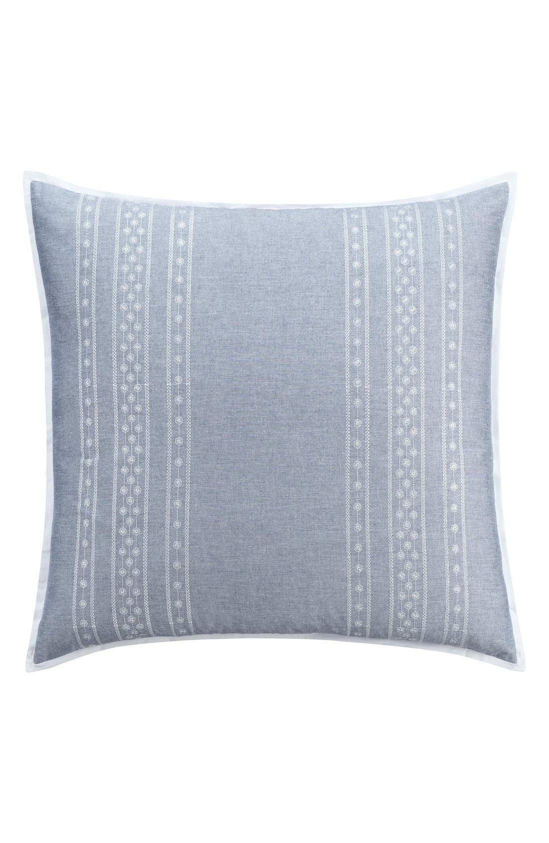 'Chambray Dot' Euro Sham,                             Main thumbnail 1, color,                             Blue