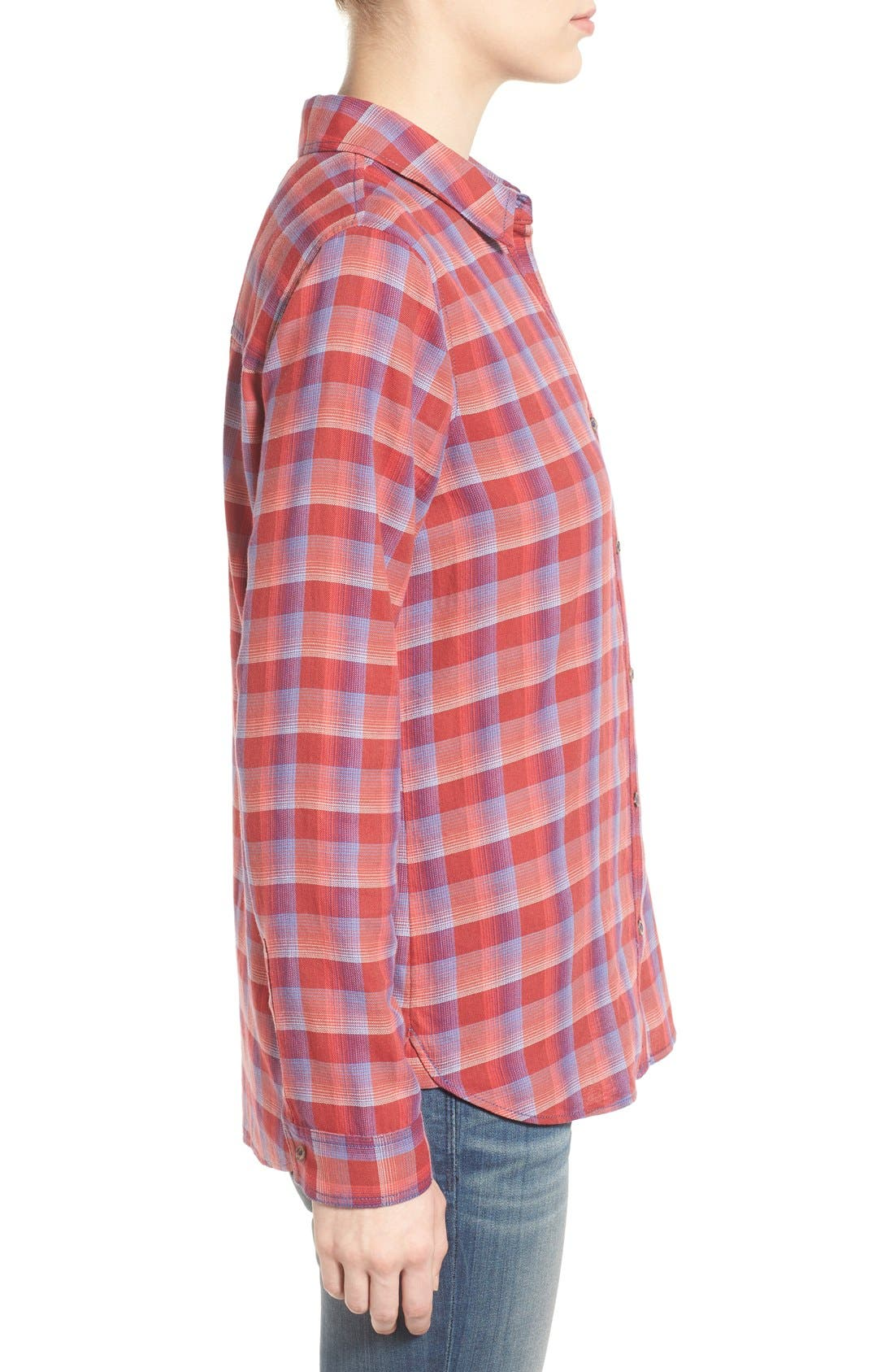 Alternate Image 4  - Treasure&Bond Cotton Plaid Shirt