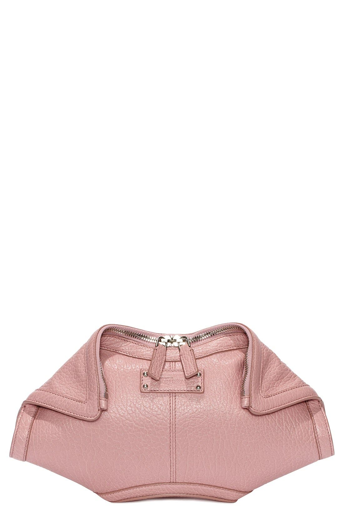 'Small De Manta' Leather Clutch,                         Main,                         color, Lilac
