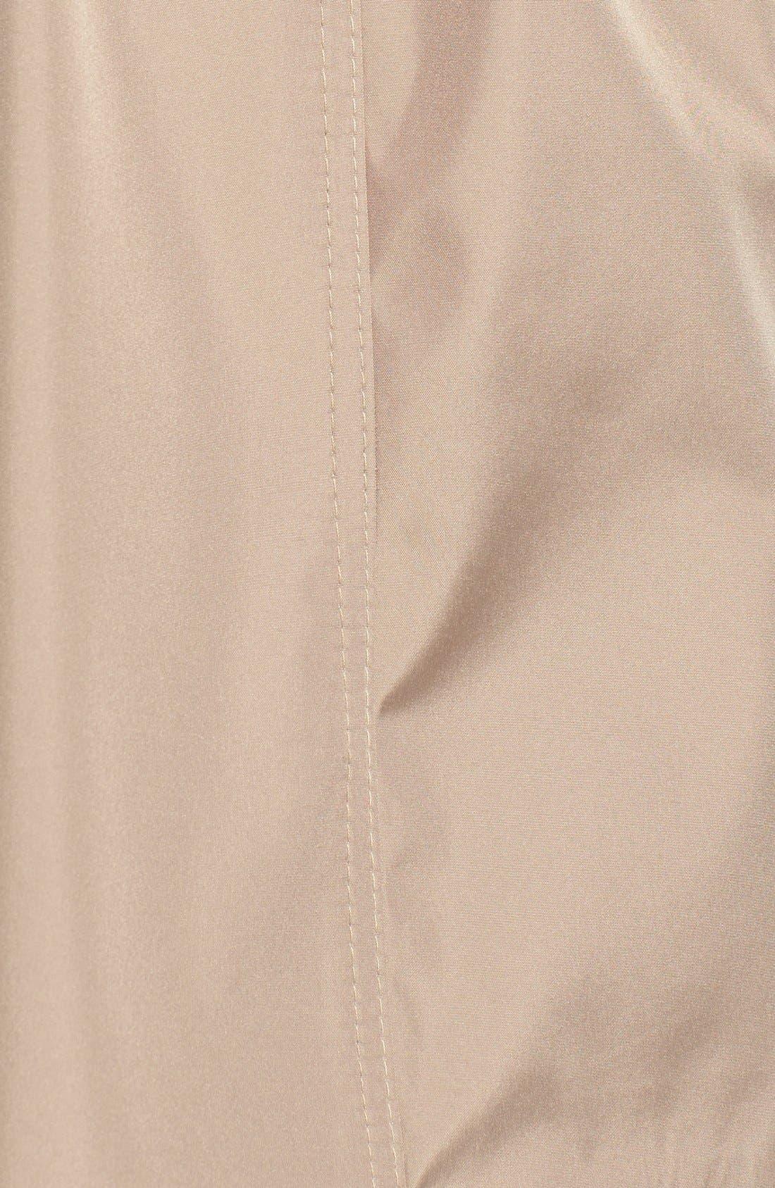 Alternate Image 5  - Via Spiga Faux Leather Trim Trench Coat