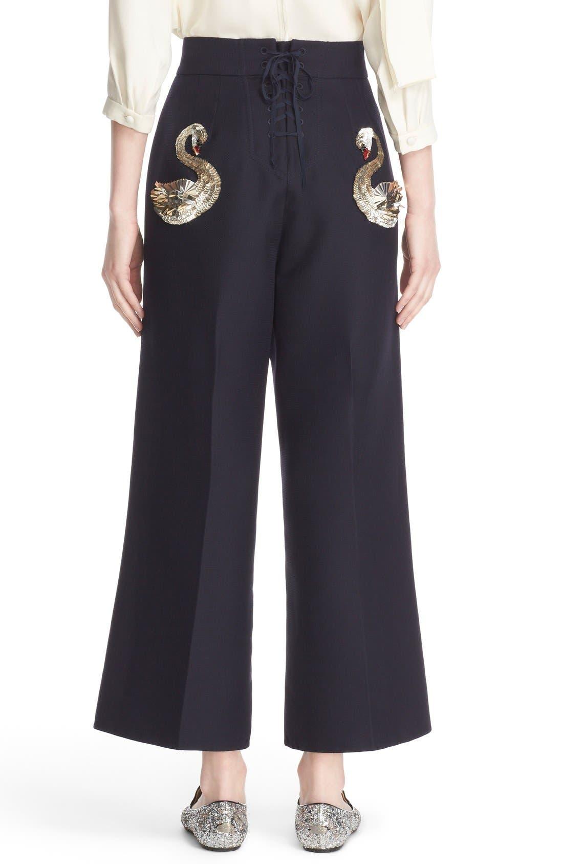 Alternate Image 3  - MARC JACOBS Wool & Silk Crop Sailor Pants