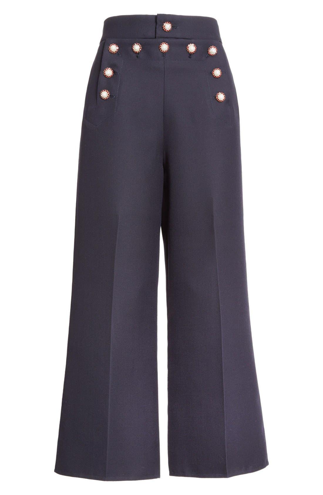 Alternate Image 5  - MARC JACOBS Wool & Silk Crop Sailor Pants