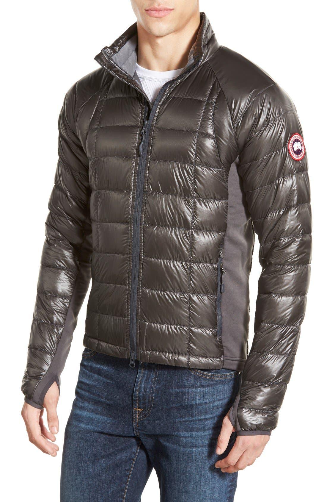 'Hybridge<sup>™</sup> Lite' Slim Fit Packable Jacket,                             Main thumbnail 1, color,                             Graphite