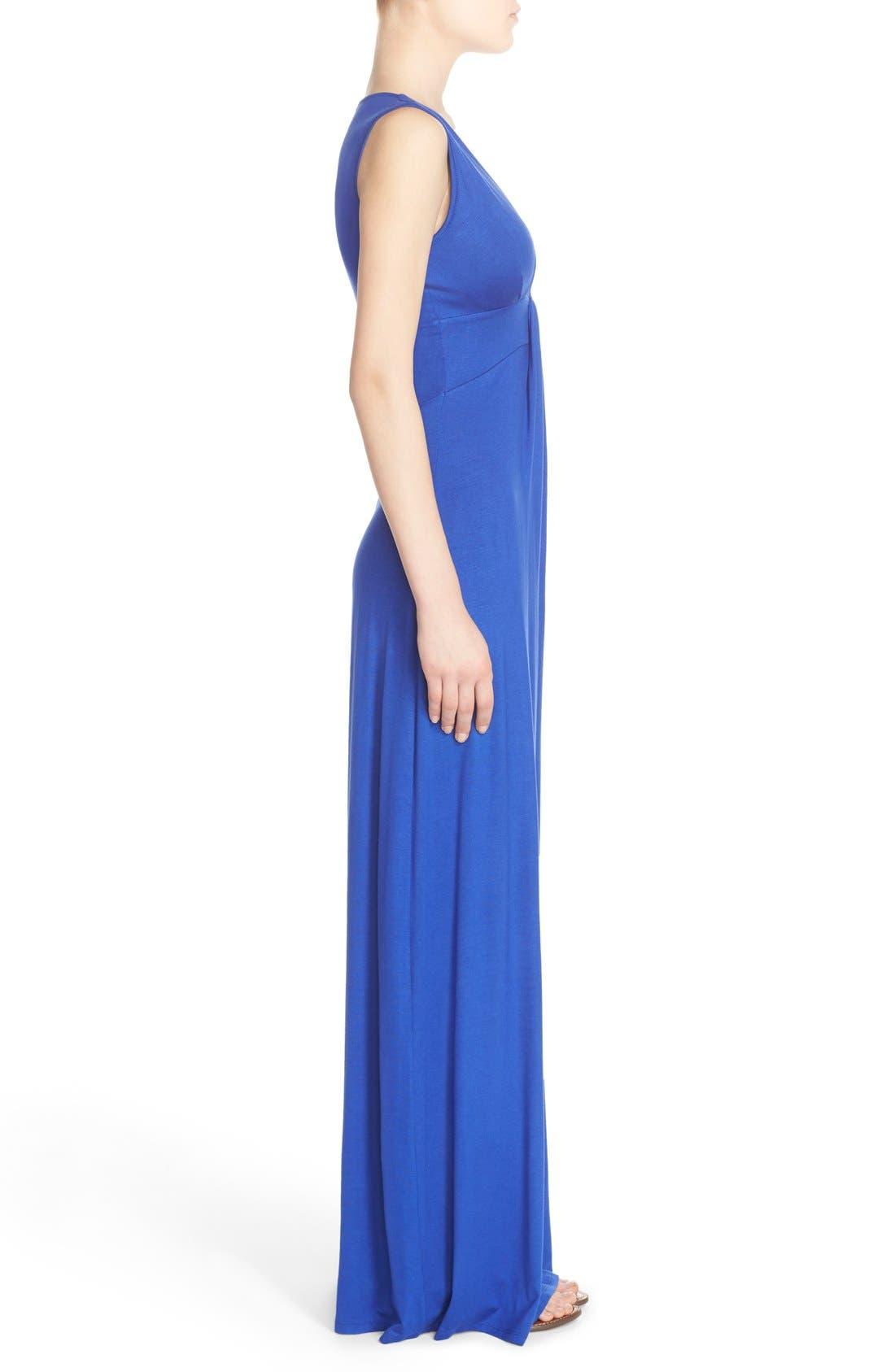 Alternate Image 3  - Fraiche by J Deep V-Neck Jersey Maxi Dress