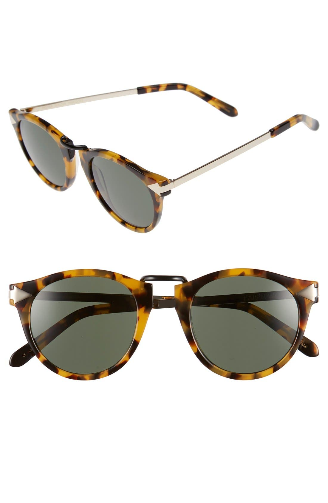 'Helter Skelter' 48mm Sunglasses,                             Main thumbnail 1, color,                             Crazy Tortoise