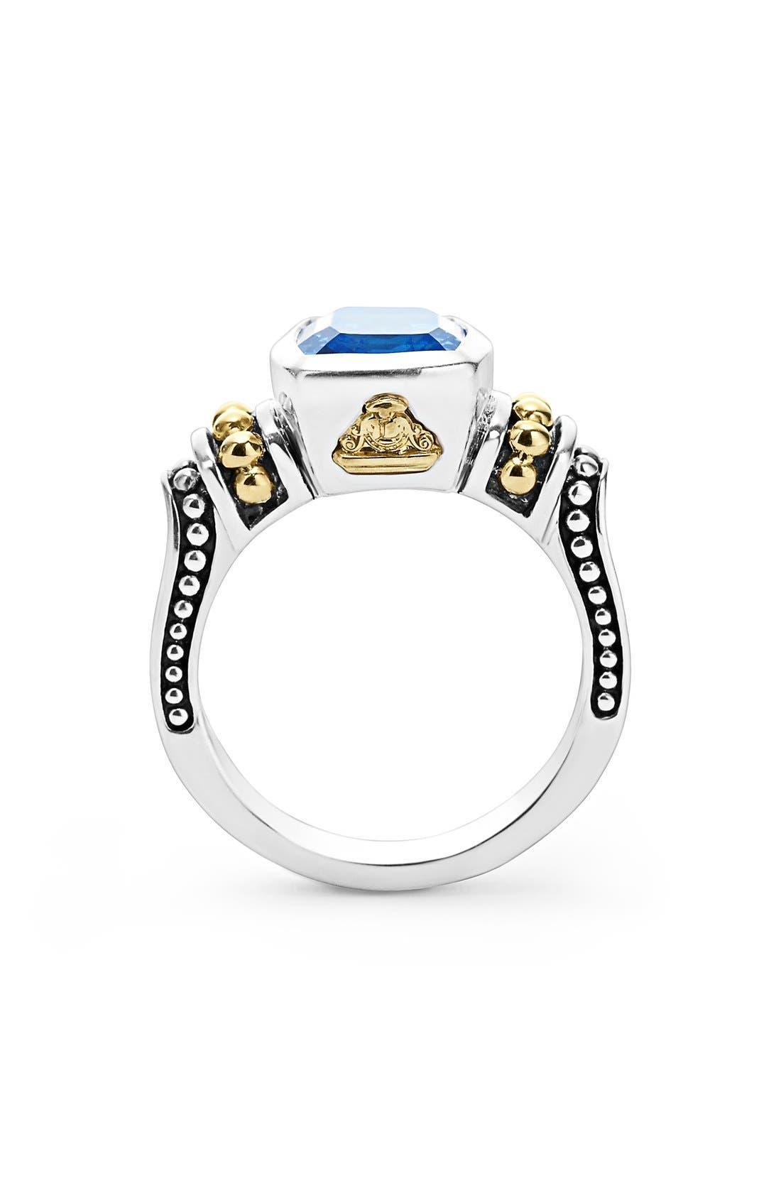 Alternate Image 2  - LAGOS 'Caviar Color' Small Semiprecious Stone Ring