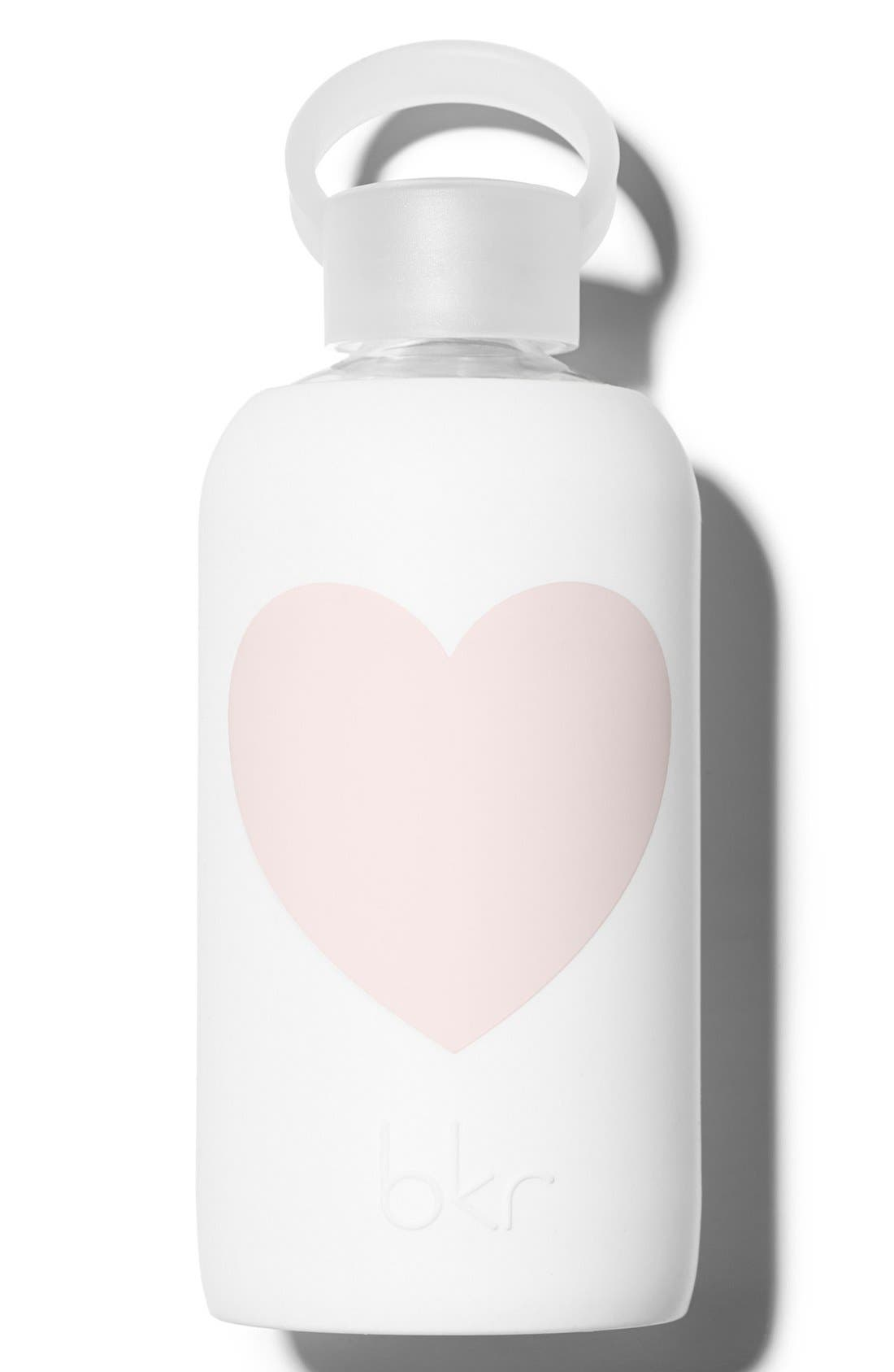 Main Image - bkr® Heart 16-Ounce Glass Water Bottle