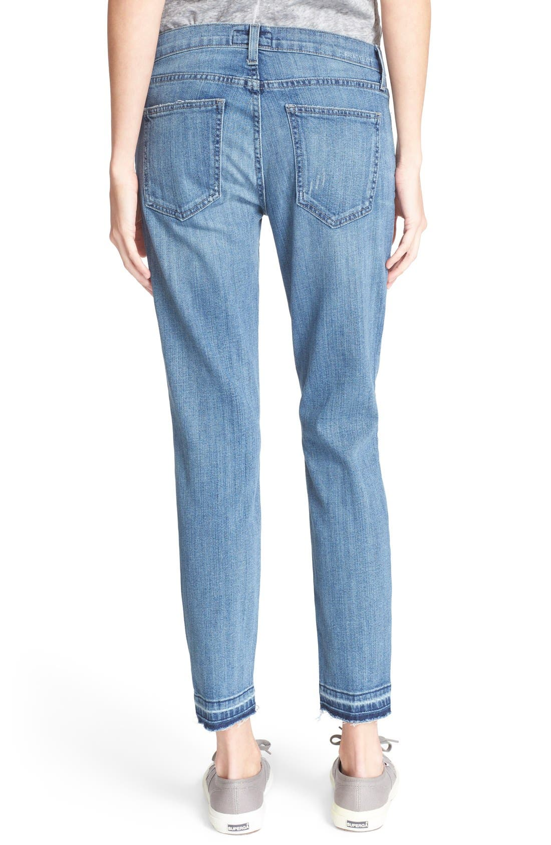 Alternate Image 2  - Current/Elliott 'The Stiletto' Stretch Jeans (Amour Released Hem)