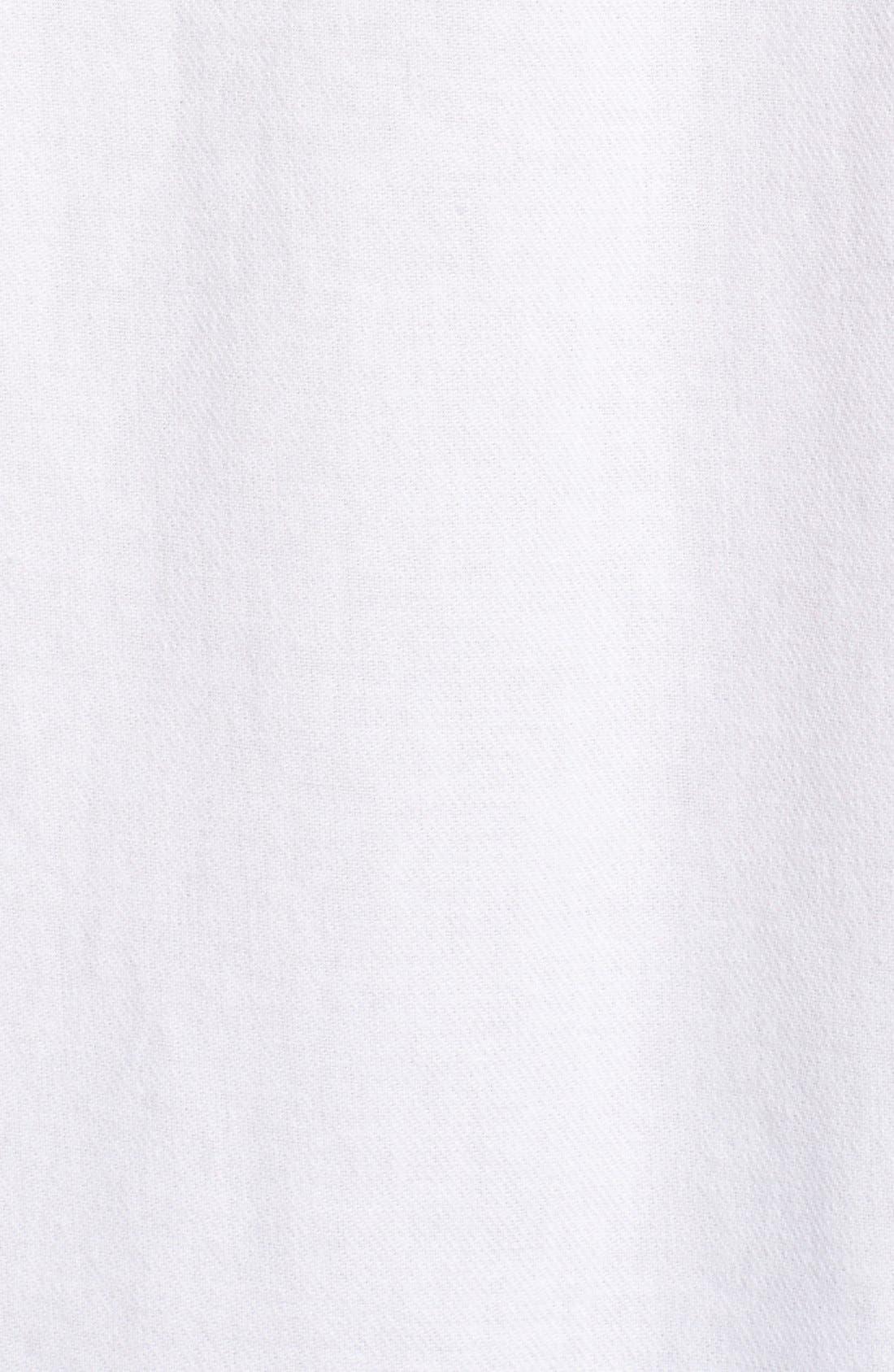 Cotton Courier Shirt,                             Alternate thumbnail 5, color,                             Pure White