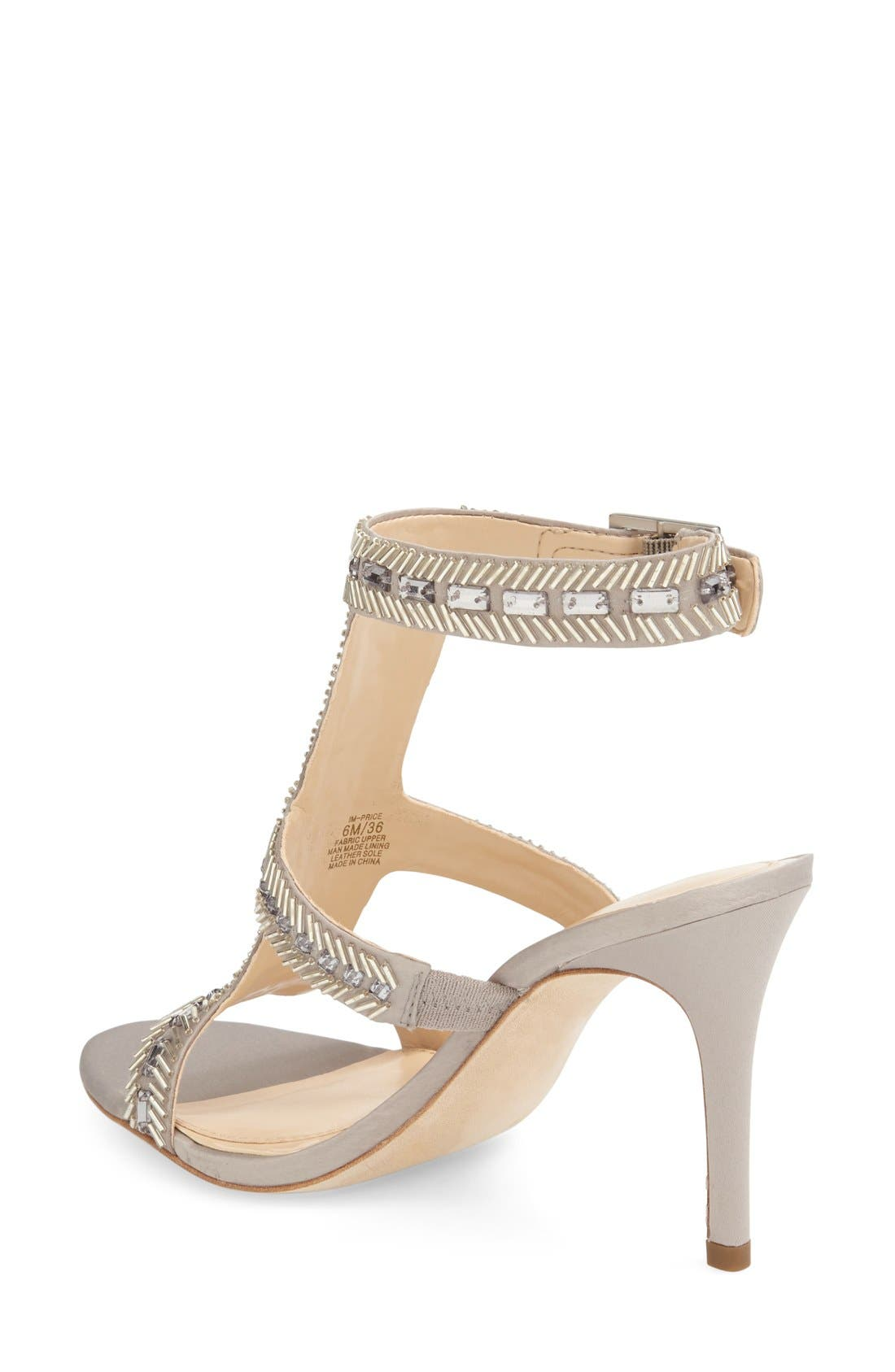 Imagine Vince Camuto 'Price' Beaded T-Strap Sandal,                             Alternate thumbnail 2, color,                             Stone