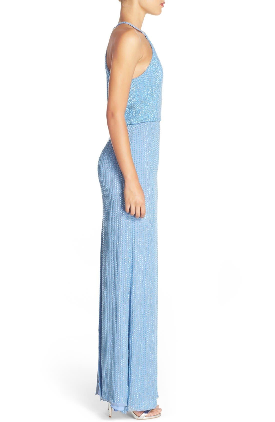 Alternate Image 3  - Parker 'Marceline' Beaded Blouson Gown