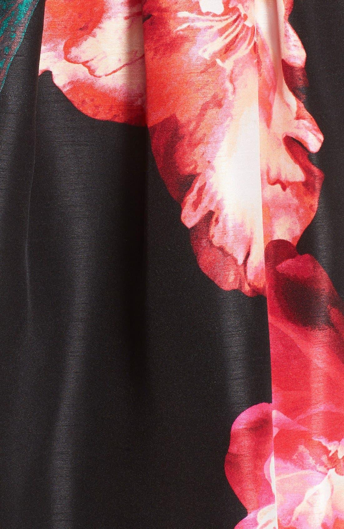 Alternate Image 6  - Donna Ricco Floral Shantung Fit & Flare Dress