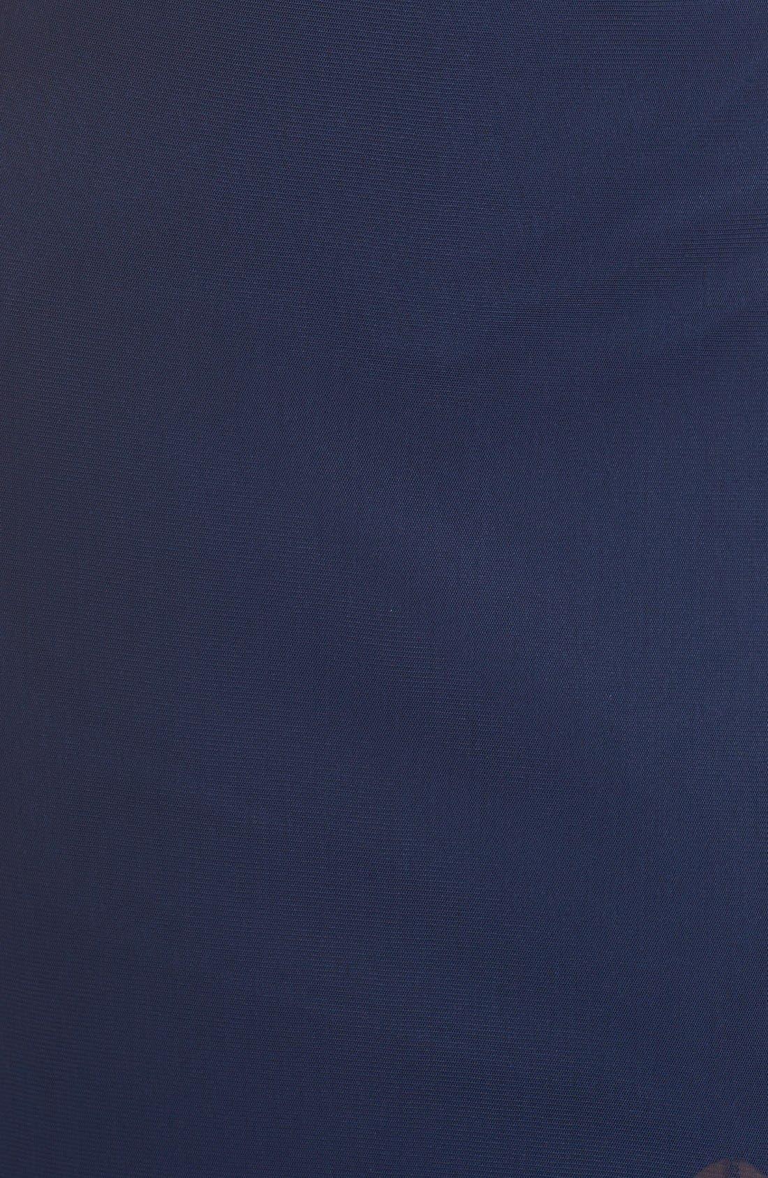 Alternate Image 5  - Abbi Von Cutout Net Jersey Gown