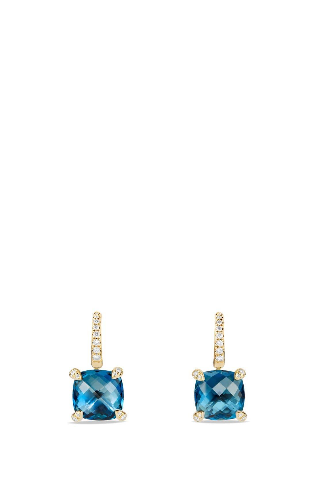 DAVID YURMAN Chatelaine Hampton Blue Topaz and Diamonds in 18K Gold