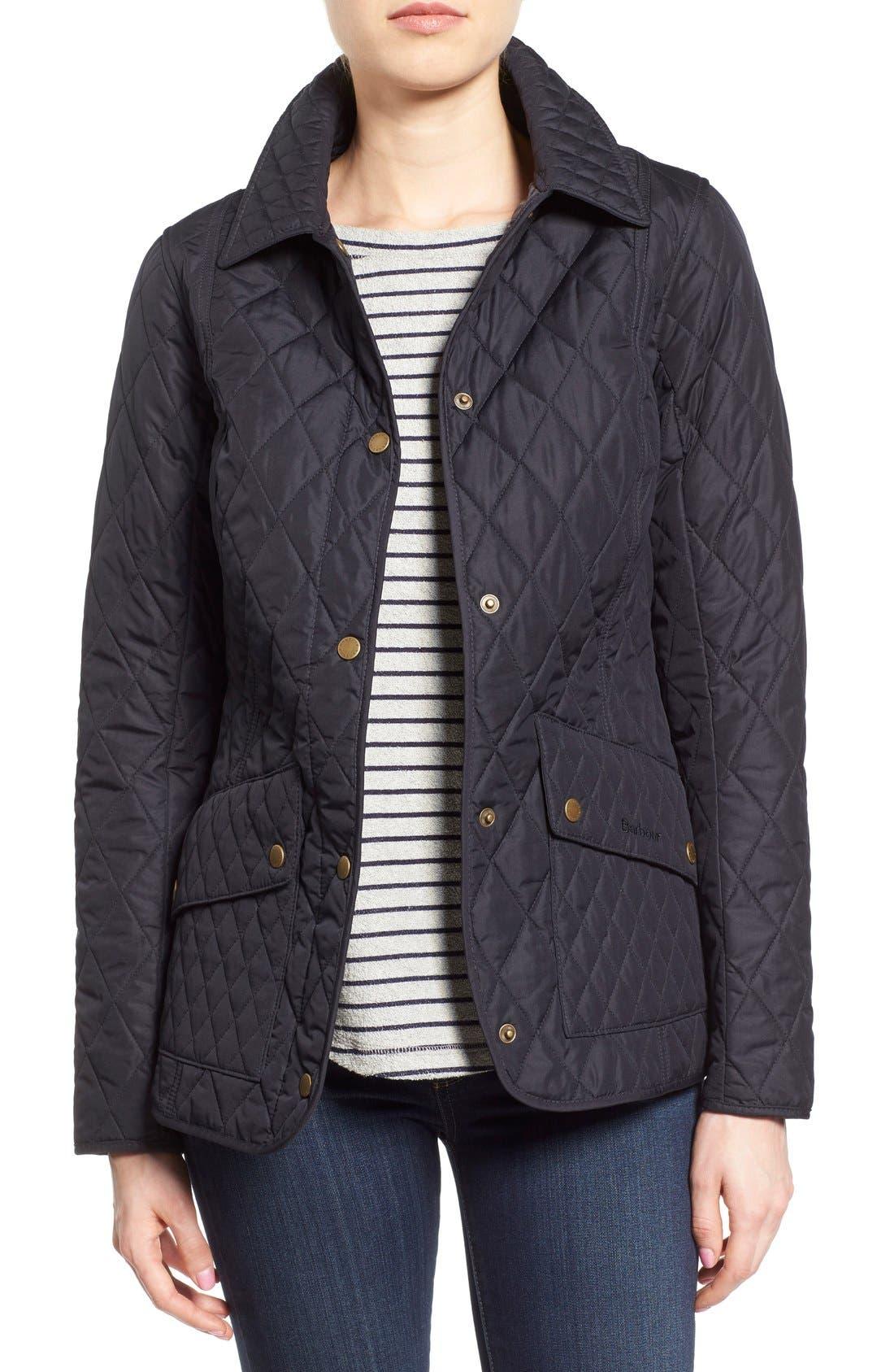Alternate Image 1 Selected - Barbour 'Herterton' Lightweight Diamond Quilt Jacket