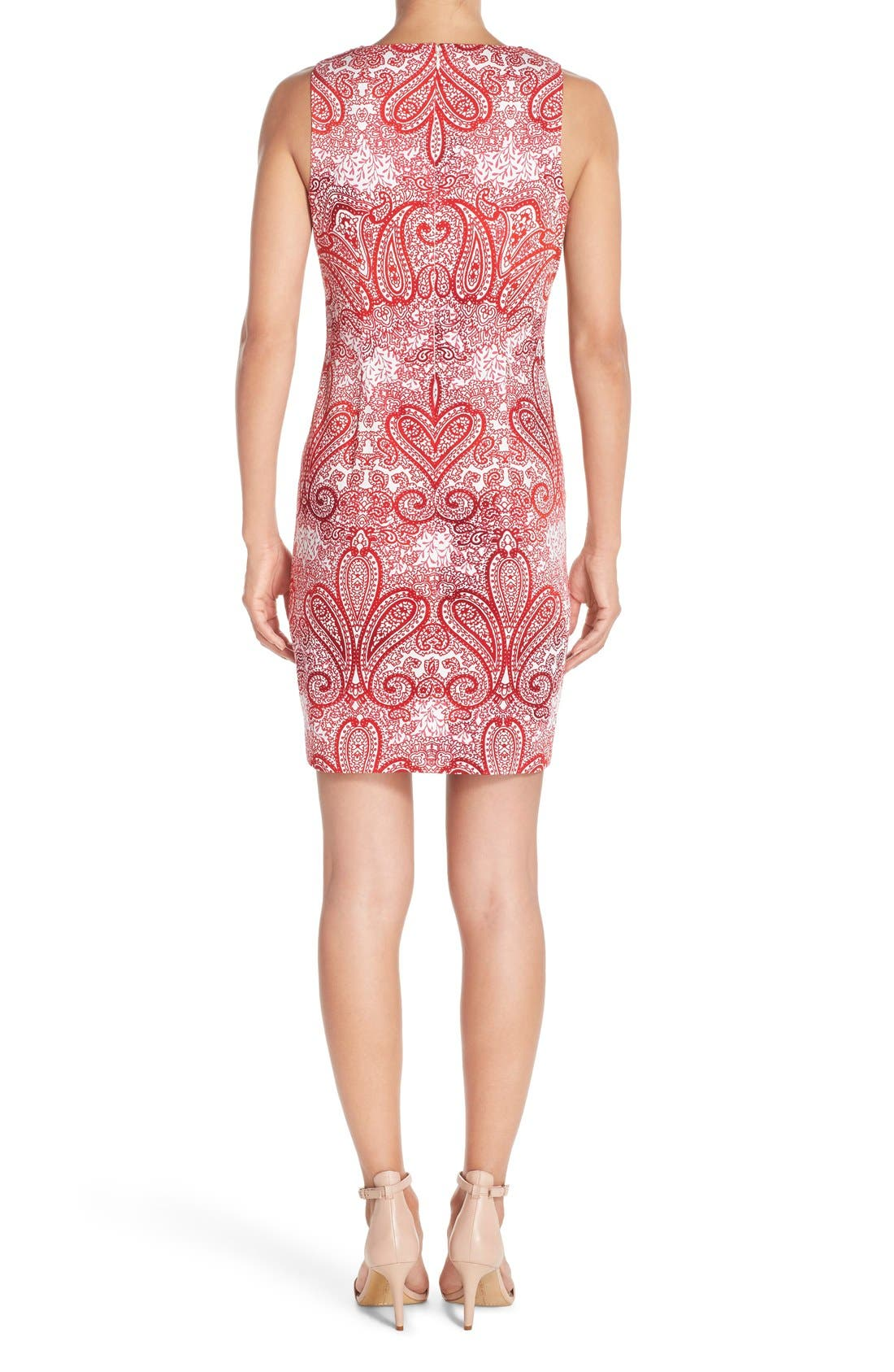 Alternate Image 2  - London Times 'Regal Ombré' Embellished Paisley Print Sleeveless Shift Dress