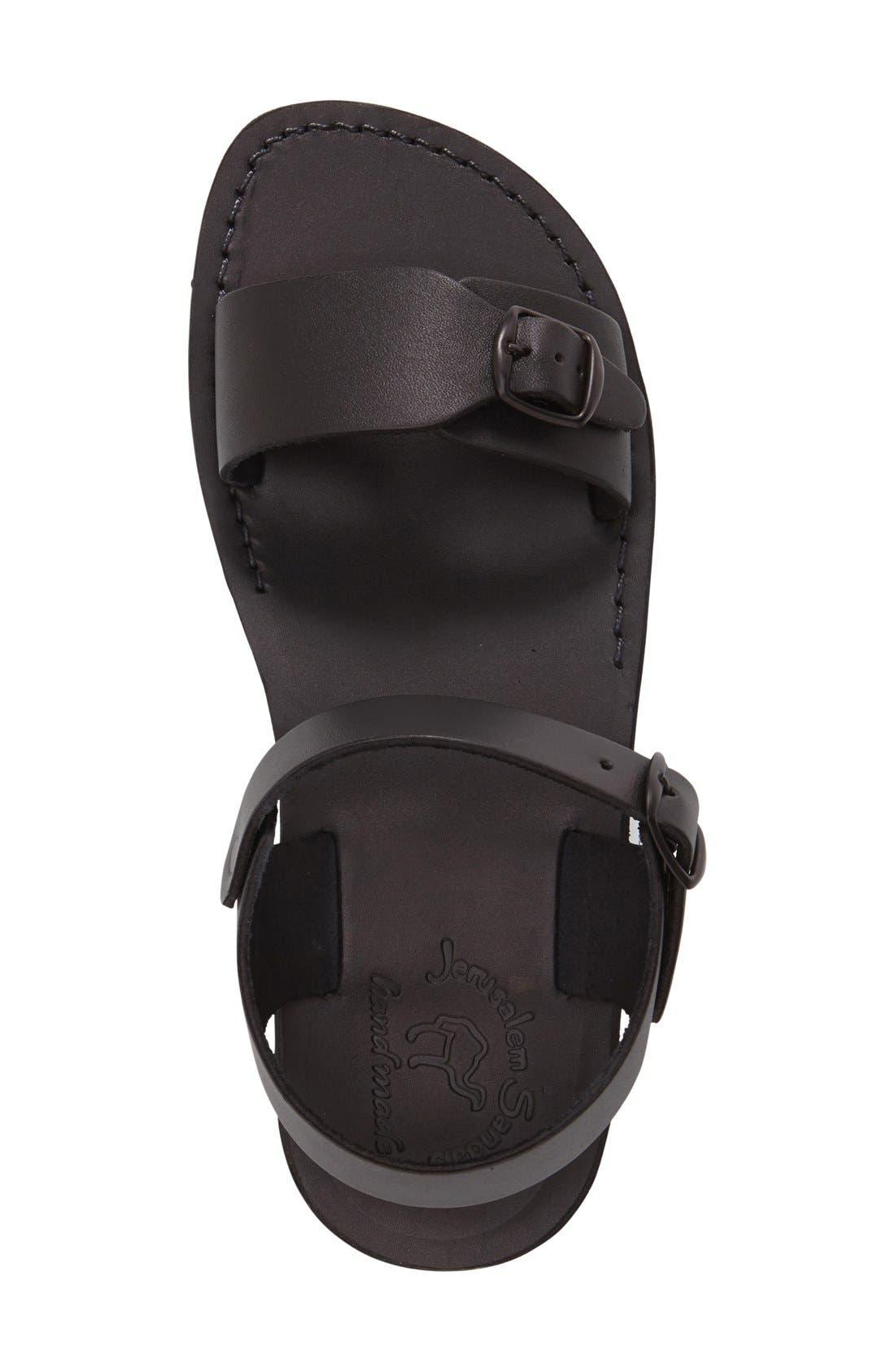 'The Original' Sandal,                             Alternate thumbnail 3, color,                             Black Leather