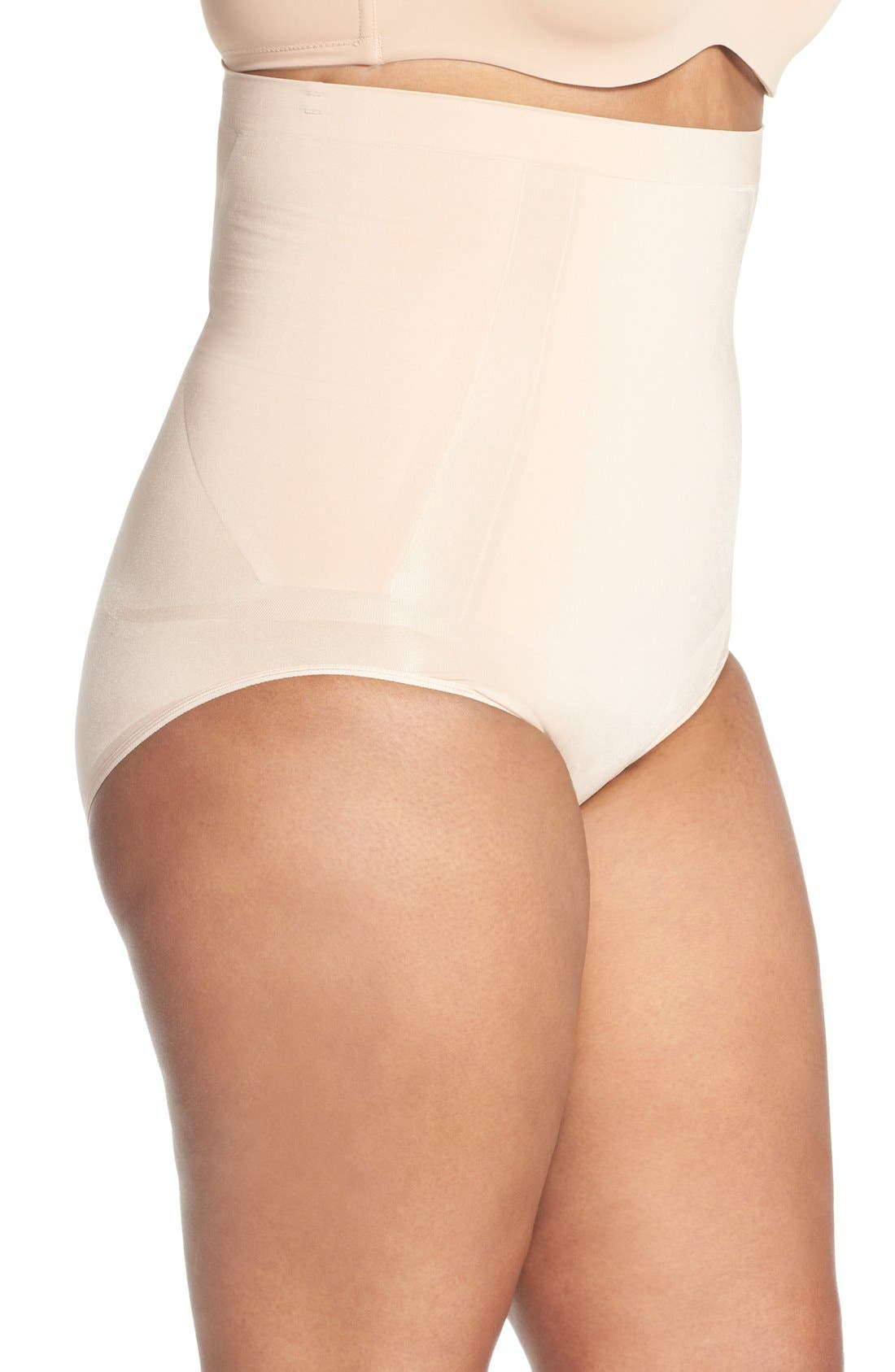 OnCore High Waist Briefs,                             Alternate thumbnail 3, color,                             Soft Nude