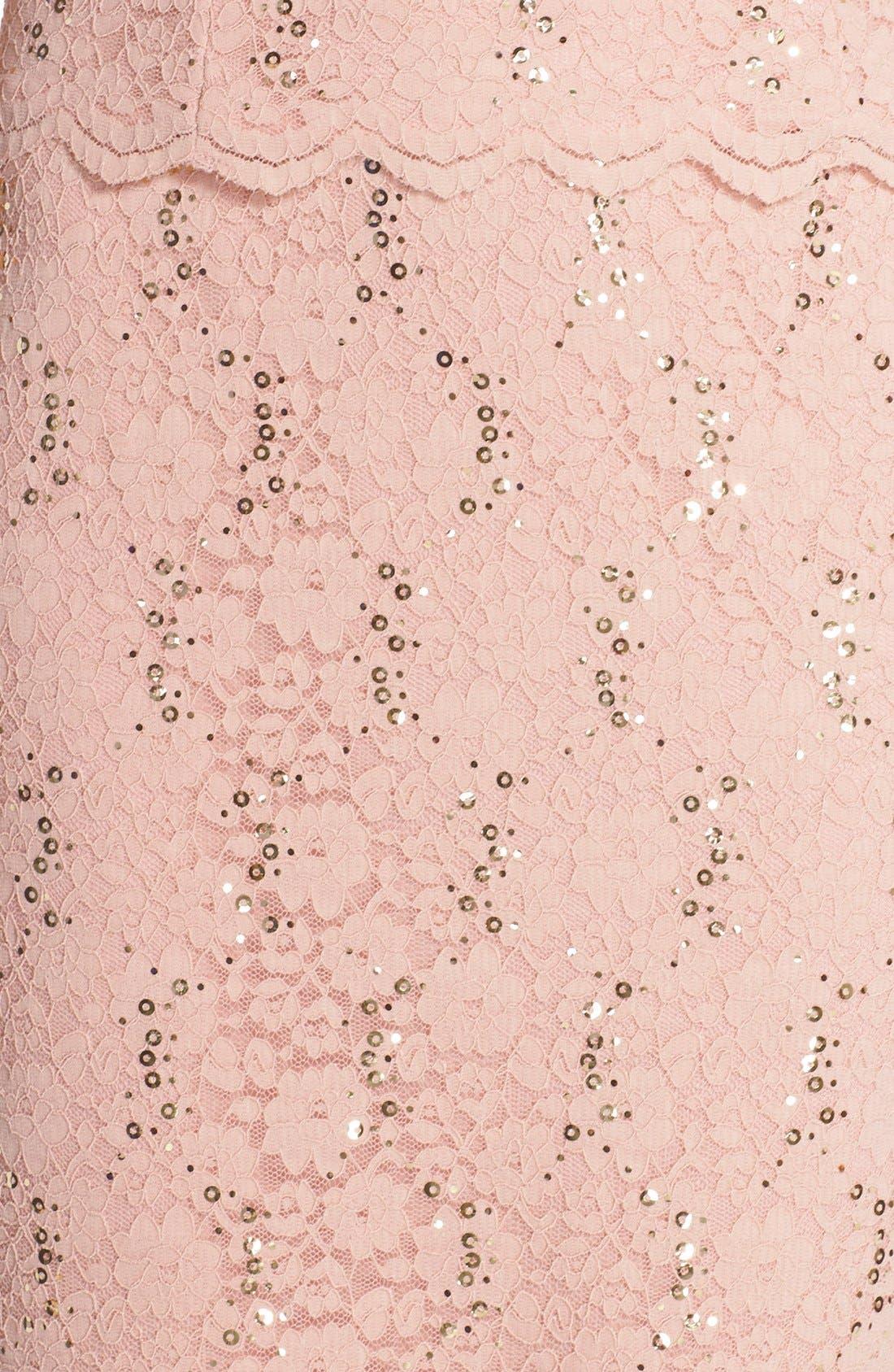 Alternate Image 6  - Alex Evenings Embellished Lace Sheath Dress