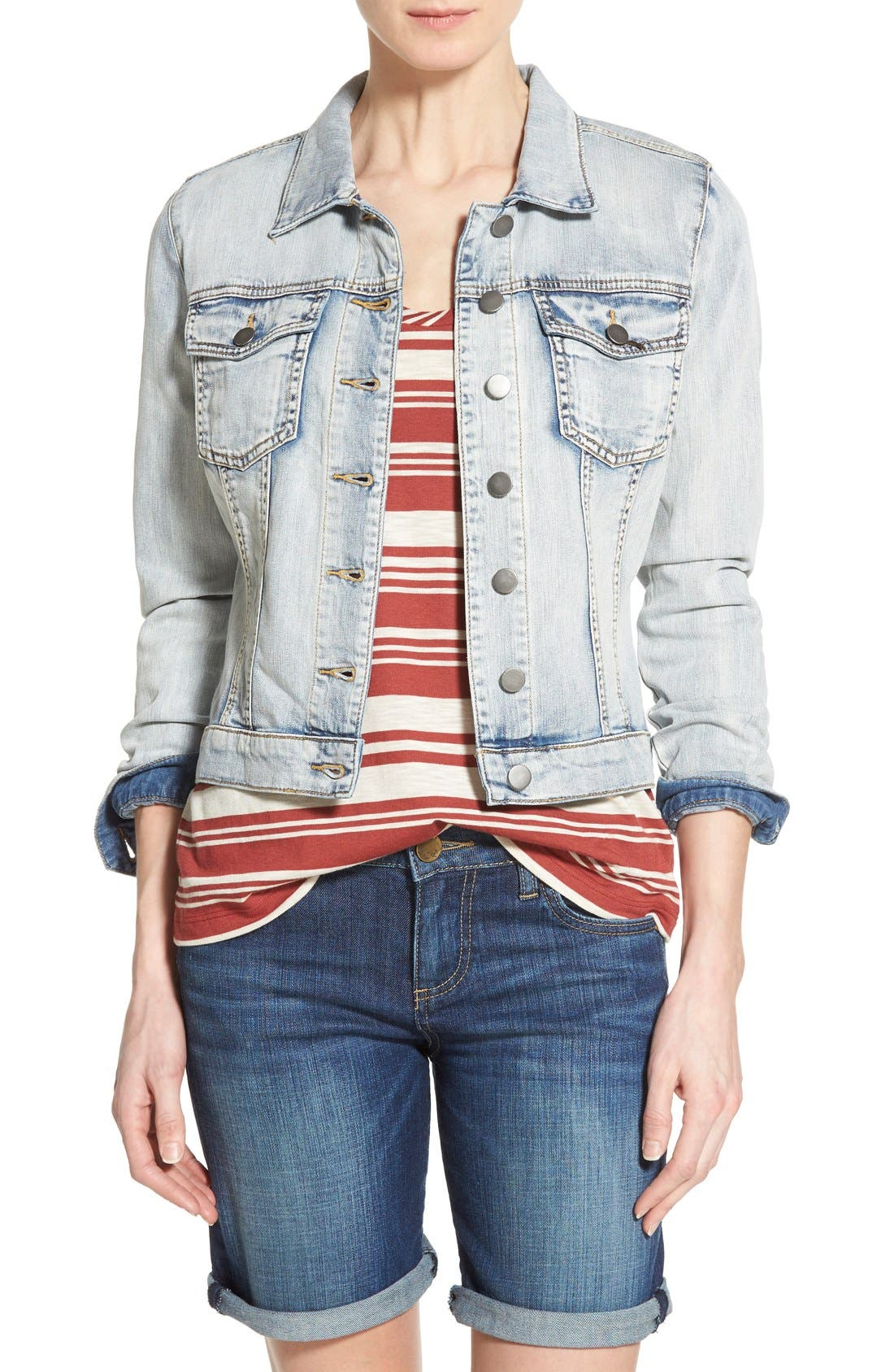 Alternate Image 1 Selected - KUT from the Kloth 'Helena' Denim Jacket (Sweet)