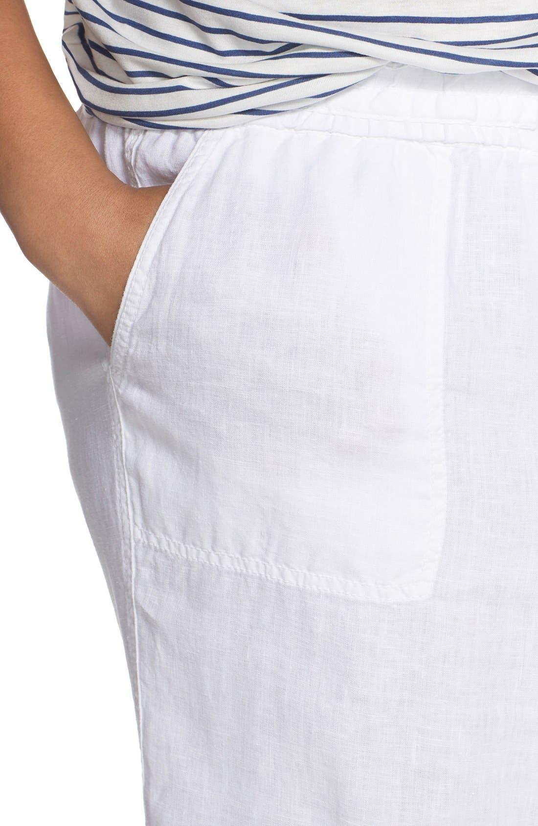 Alternate Image 5  - Caslon® Drawstring Linen Pants (Plus Size)