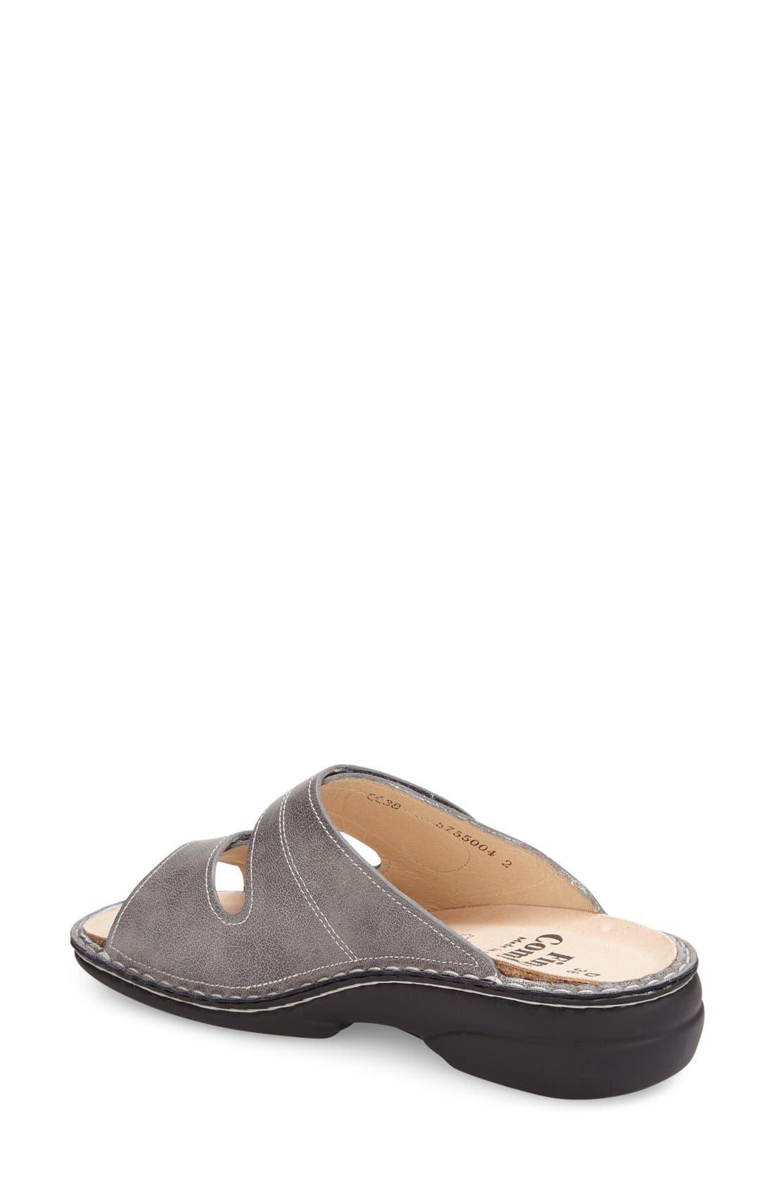 'Sansibar' Sandal,                             Alternate thumbnail 2, color,                             Grey Nappa Leather