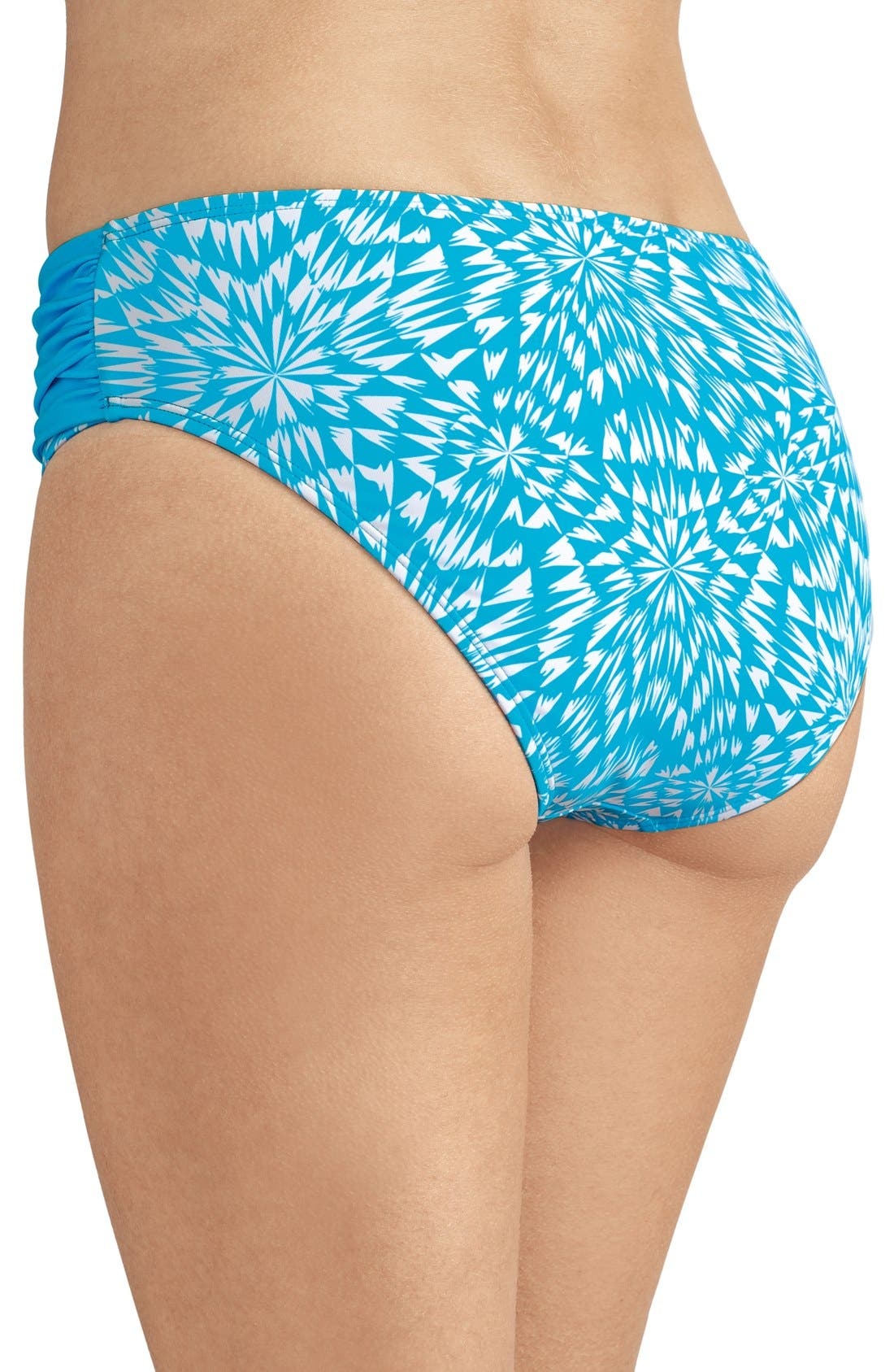 'Hawaii' Swim Briefs,                             Alternate thumbnail 2, color,                             Turquoise/ White