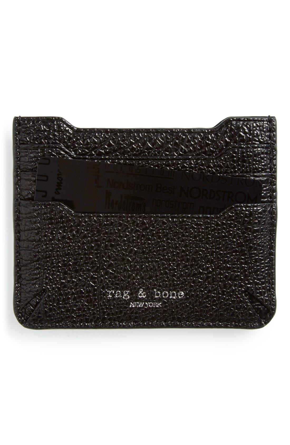 Alternate Image 1 Selected - rag & bone 'Crosby' Crackle Leather Card Case