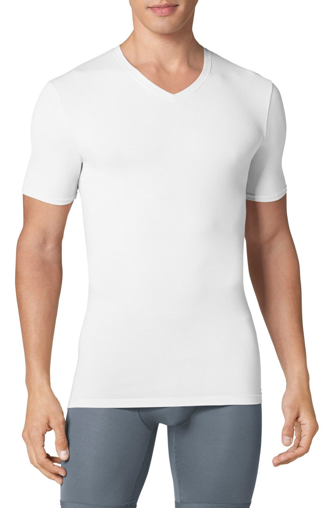 Main Image - Tommy John 'Cool Cotton' High V-Neck Undershirt